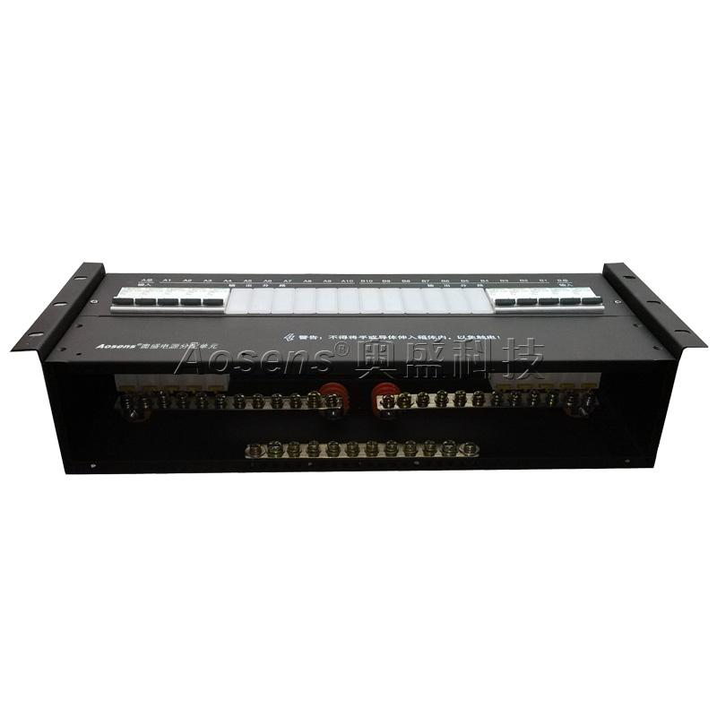 4U-03 19寸机柜架顶双联开关电源箱 冗余供电电源分配单元 机柜配电箱