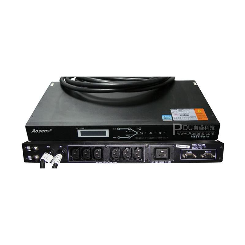 Aosens 奥盛16A双电源静态切换开关自动切换电源 两路切换设备不断电 AS-MSTS-C6D1G16