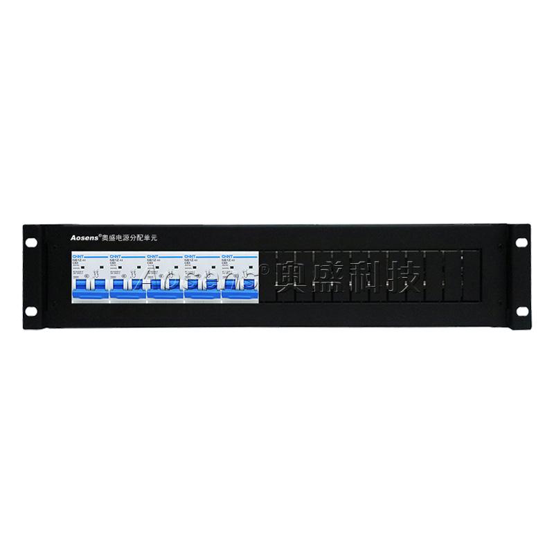 奥盛(Aosens) 机柜配电单元PDU配电箱 正泰直流2P空开断路器单路架顶电源箱2U