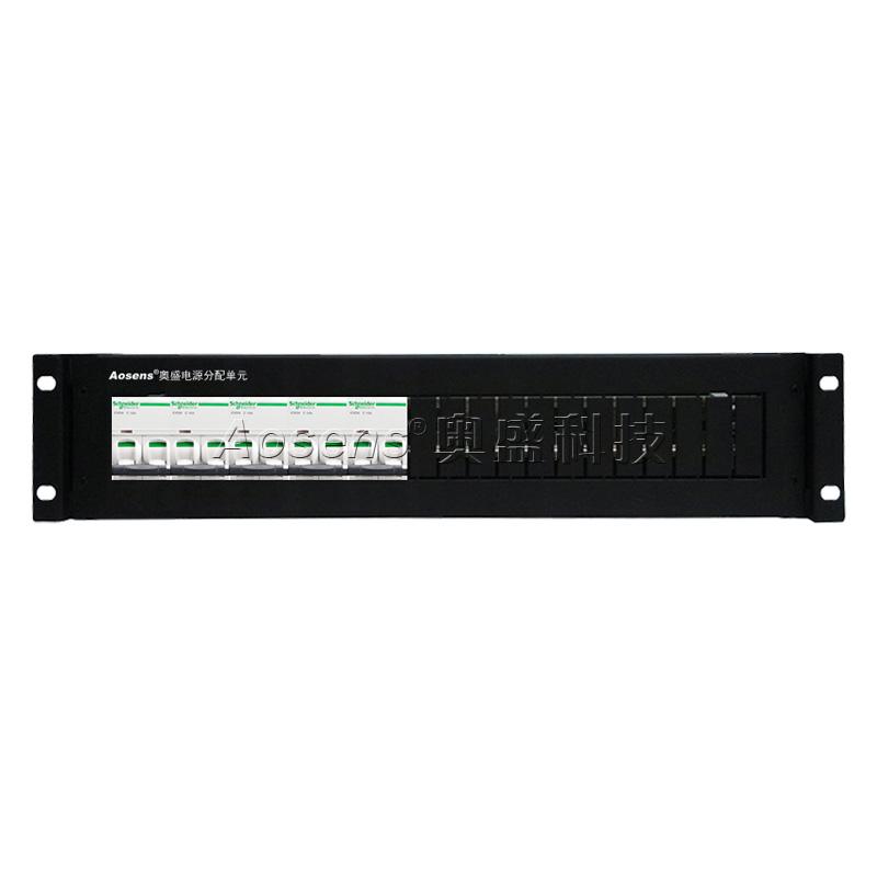 奥盛(Aosens) 机柜配电单元PDU配电箱 施耐德交流2P空开断路器单路架顶电源箱2U