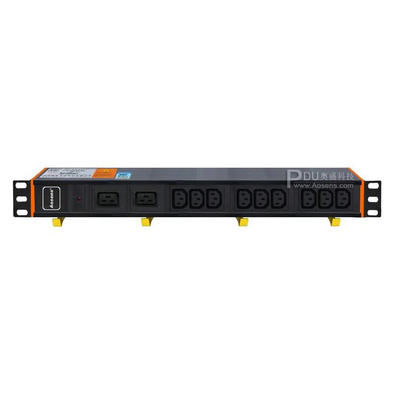 Aosens PDU带灯IEC混装11位 32A亚博app官方下载安卓yabo5000 AS-1.5U-C9D2S
