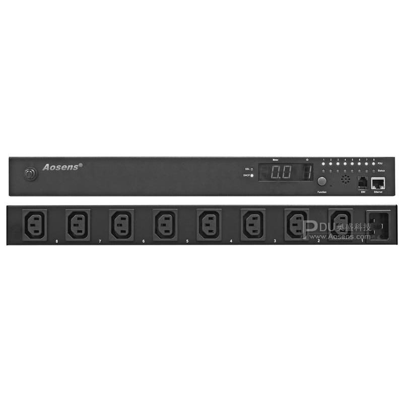 Aosens PDU 8位16A网络监测PDU电源AS-WPOM-C8G16