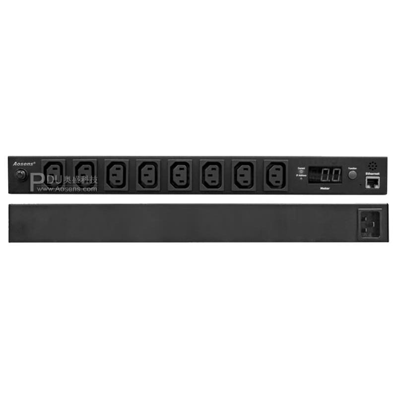 Aosens PDU 8位16A网络监测PDU电源 AS-WMOR-C8G16