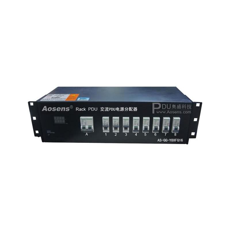 Aosens PDU 防雷过载数显德意标8位 16A钢板亚博app官方下载安卓yabo5000 AS-GG-Y8XFG16 空开
