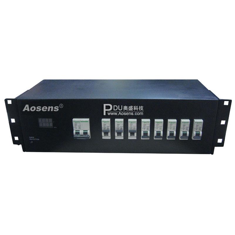 奥盛 Aosens 智能防雷数显钢板PDU AS-GG-Y8XFG16