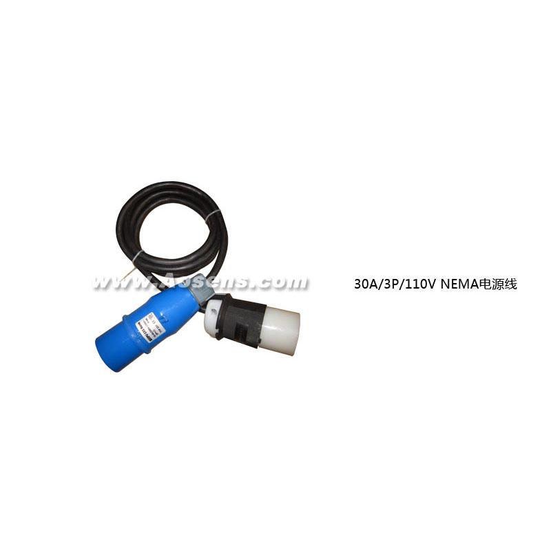奥盛(Aosens)30A/3P/110V NEMA电源线 2P+E 30A NEMA插头-30A NEMA插座